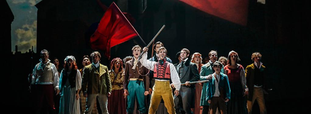 Photograph from Les Miserables - lighting design by Michael Grundner