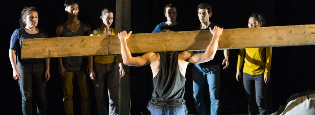 Photograph from Loaded - lighting design by Joshua Gadsby