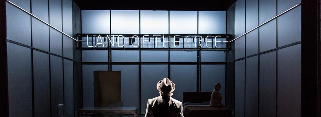 Photograph from Death of a Salesman - lighting design by Matthew Haskins