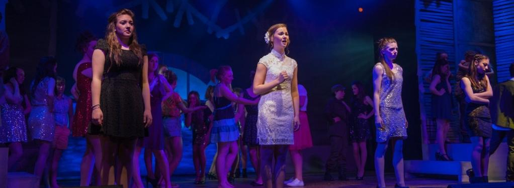 Photograph from Miss Saigon (Schools edition) - lighting design by Pete Watts