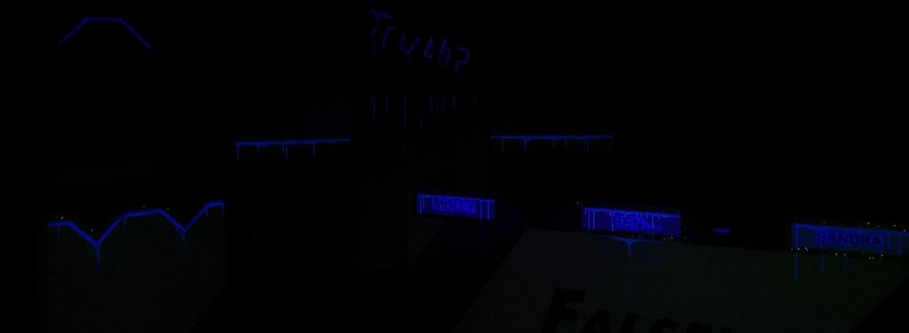 Photograph from Quiz Show - lighting design by Jack Holloway