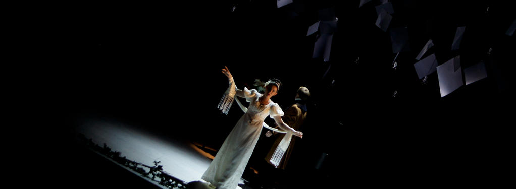 Photograph from Mansfield Park - lighting design by Jake Wiltshire
