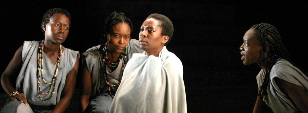 Photograph from Medea - lighting design by Malcolm Rippeth