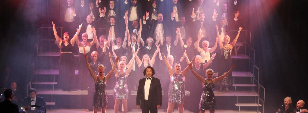 Photograph from Songs from Their Shows - lighting design by Jason Salvin