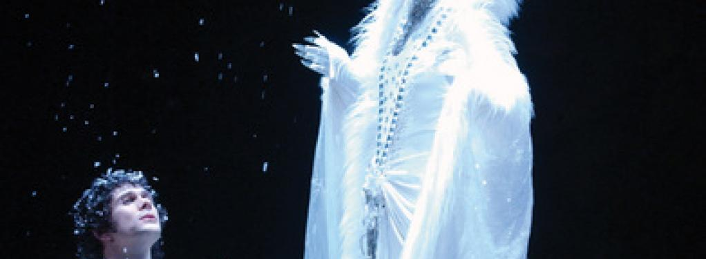 Photograph from The Snow Queen - lighting design by Malcolm Rippeth