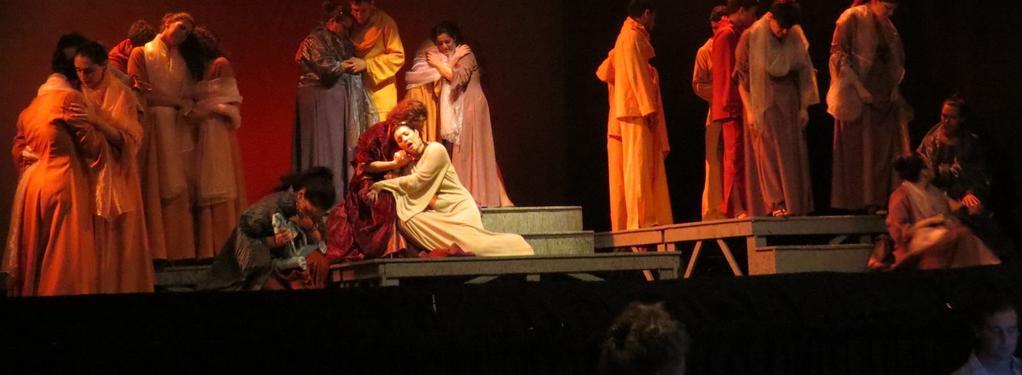 Photograph from Dido & Aeneas - lighting design by Chris Gatt