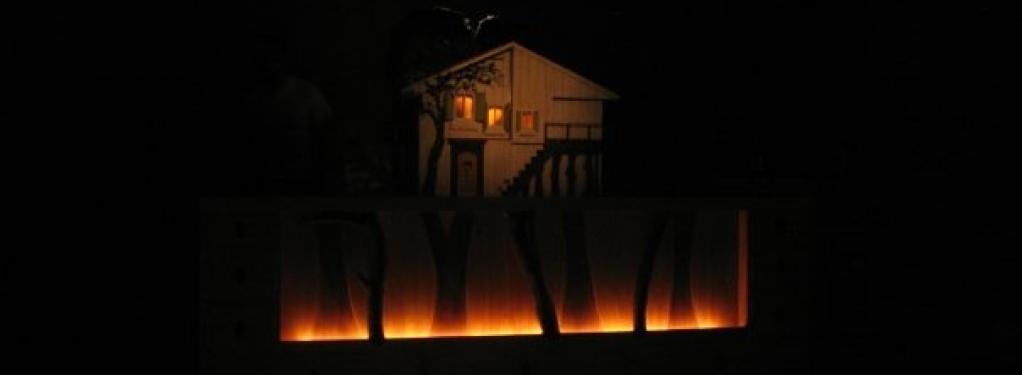 Photograph from Goldilocks - lighting design by Chris Barham