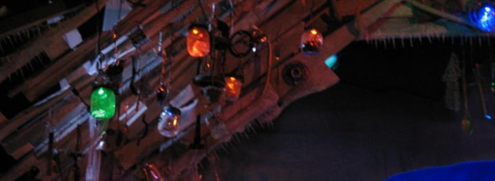 Photograph from Skitterbang Island 2010 - lighting design by Chris Barham