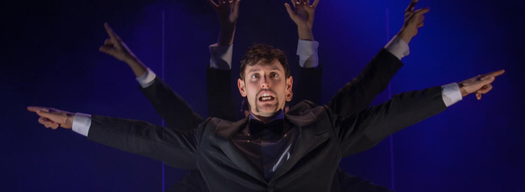 Photograph from Bouncers - lighting design by Andy Webb
