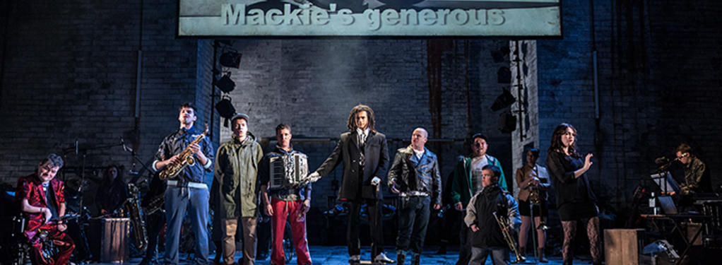 Photograph from The Threepenny Opera - lighting design by Malcolm Rippeth
