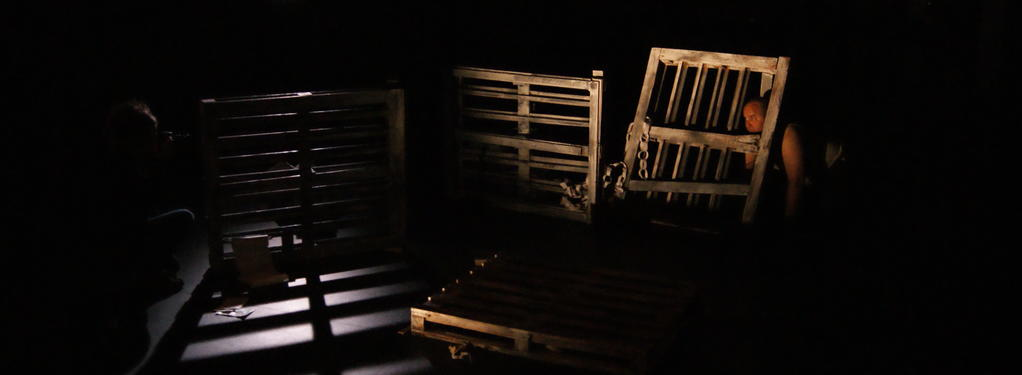 Photograph from Diary of a Madman - lighting design by Katy Morison