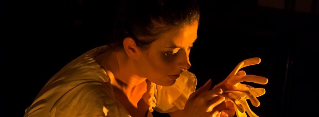 Photograph from The Maids - lighting design by Kelli Zezulka