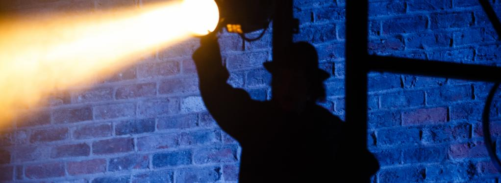 Photograph from Dead Dog in a Suitcase (and other love songs) - lighting design by Malcolm Rippeth
