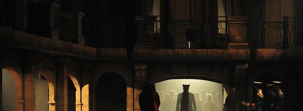 Photograph from Evita - lighting design by Chris Gatt