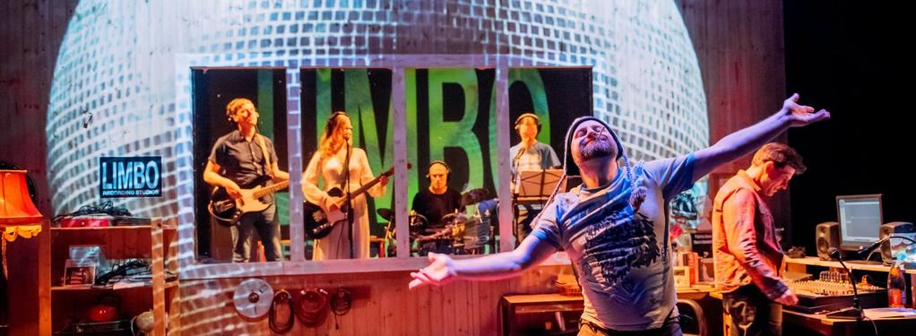 Photograph from Music Is Torture - lighting design by Kate Bonney