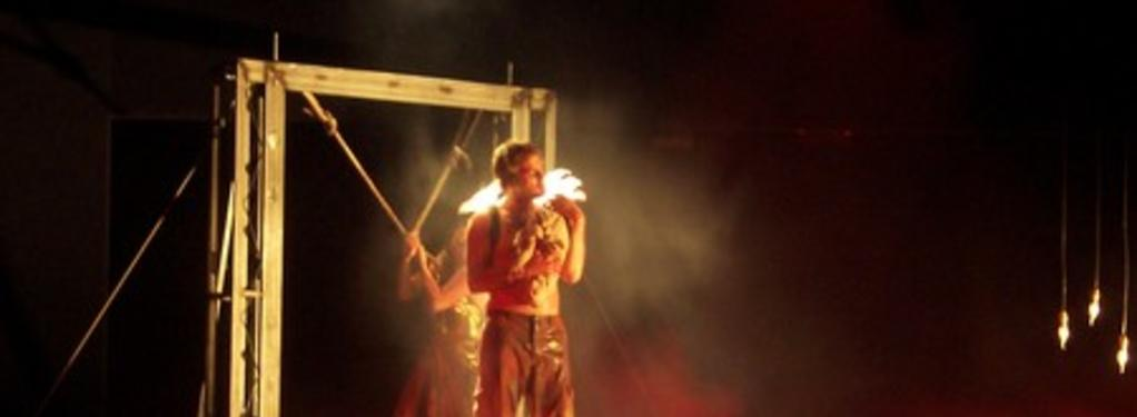 Photograph from Orestes - lighting design by Peter Harrison