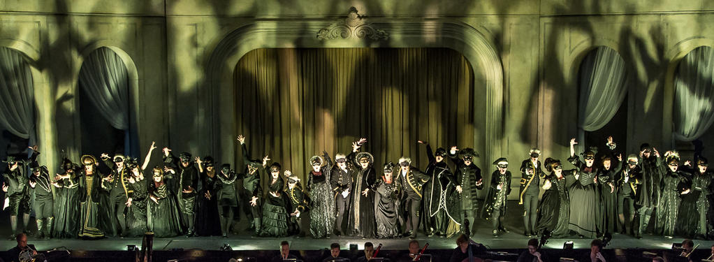 Photograph from The Queen of Spades - lighting design by Simon Corder