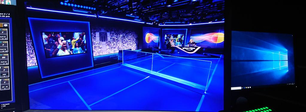 Photograph from Amazon Prime Video ATP Tennis 2019 Miami Open - lighting design by mikelefevre