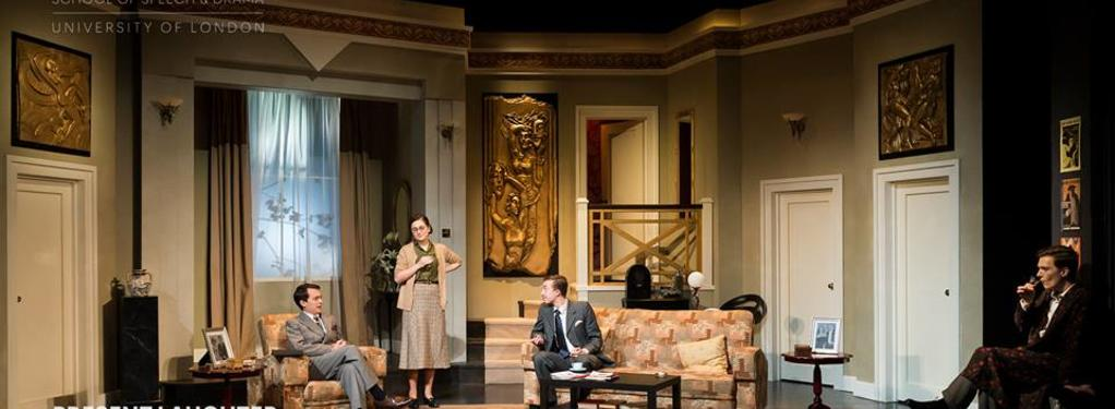 Photograph from Present Laughter - lighting design by Layla Lagab