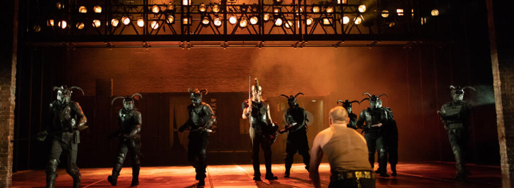 Photograph from Troilus and Cressida - lighting design by Matt Daw