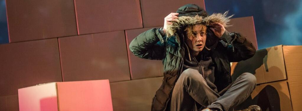 Photograph from May The Road Rise Up - lighting design by James McFetridge