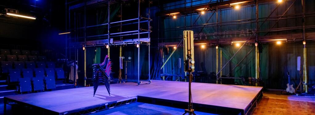 Photograph from Provok'd - lighting design by Liam Sayer