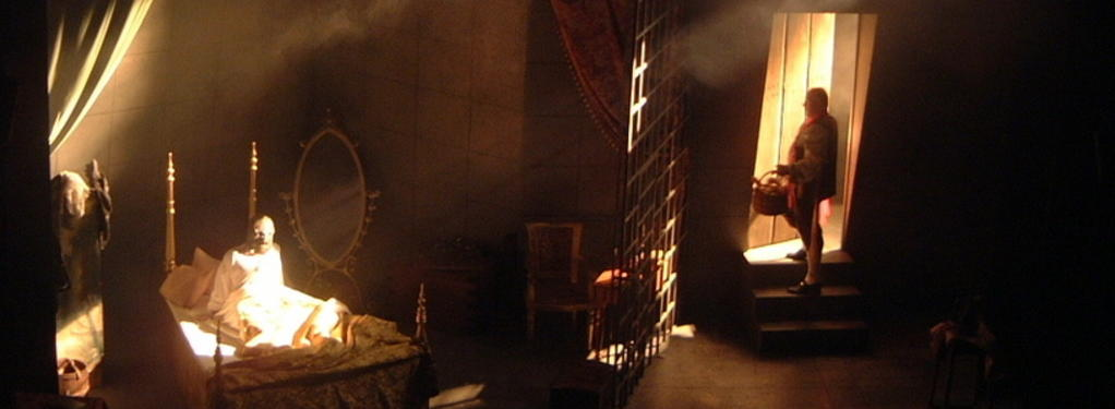 Photograph from Behind The Iron Mask - lighting design by Tim Mascall