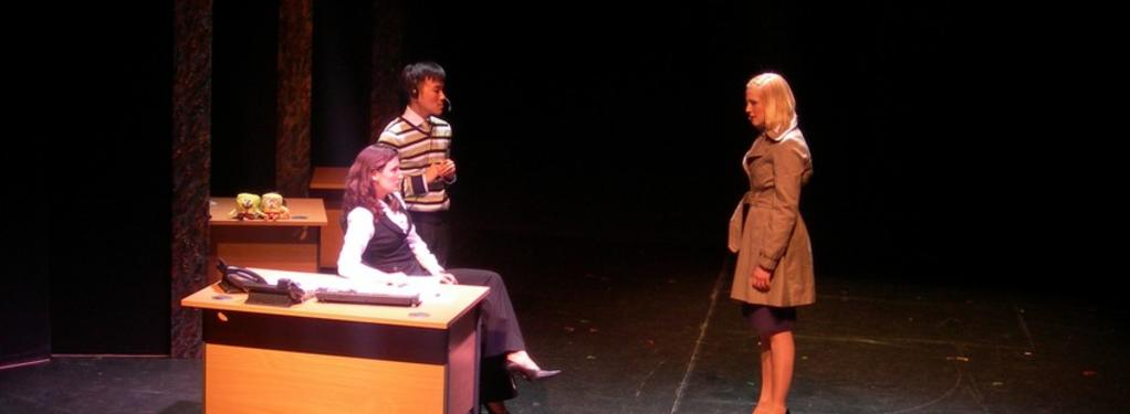 Photograph from Serious Money - lighting design by Ian Saunders