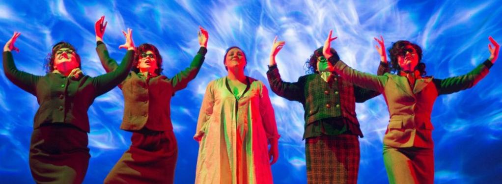 Photograph from Dido and Aeneas - lighting design by Kate Bonney