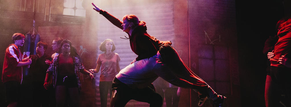 Photograph from Fight Like A Girl - lighting design by Joseph Ed Thomas