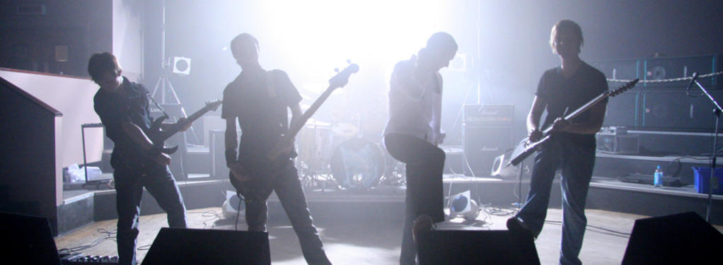 Photograph from Aikon Music video shoot - lighting design by Pete Watts