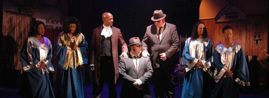 Photograph from The Official Blues Brothers Revival - lighting design by Simon Wilkinson