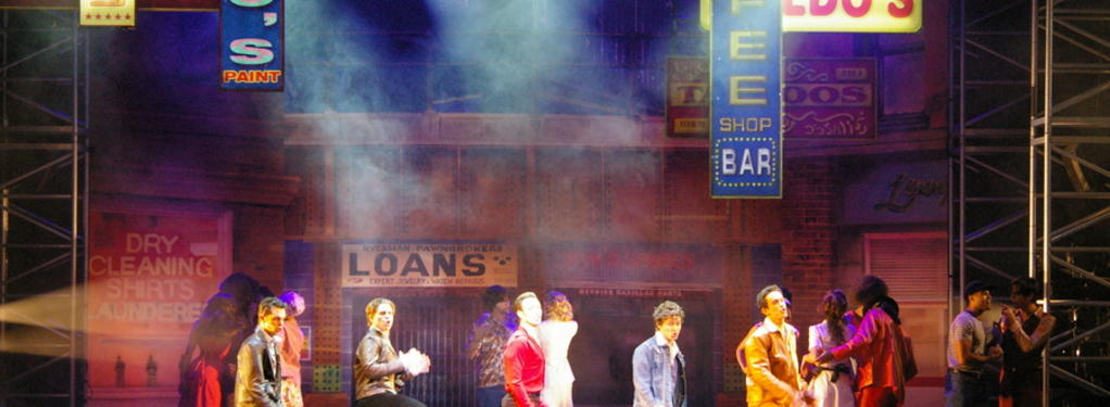 Photograph from Saturday Night Fever - lighting design by Declan Randall