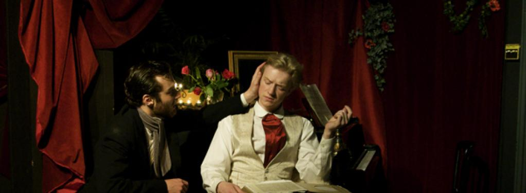 Photograph from Dorian Gray - lighting design by Edmund Sutton