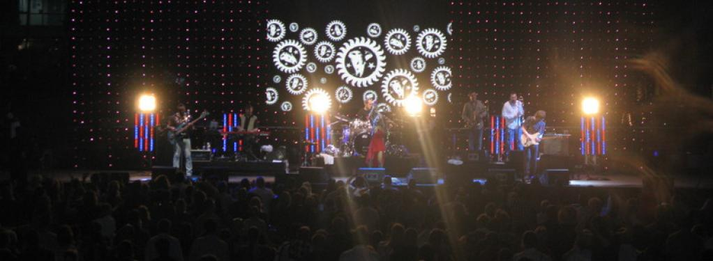 Photograph from Dubai International Jazz Festival - lighting design by Paul Smith