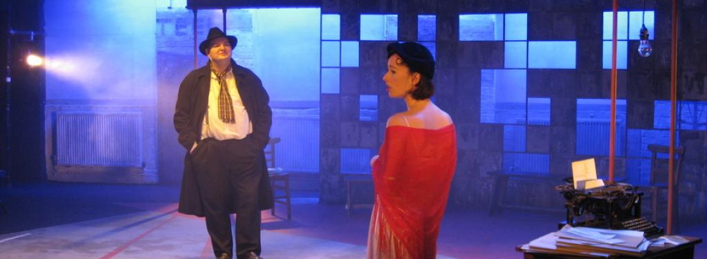 Photograph from The Cradle will Rock - lighting design by Alex Wardle