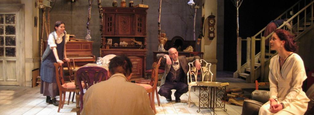 Photograph from Uncle Vanya - lighting design by Alex Wardle