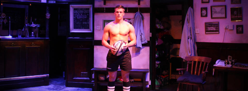 Photograph from Odd Shaped Balls - lighting design by Robbie Butler