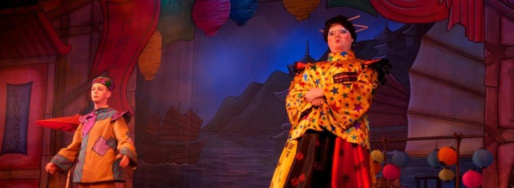 Photograph from Aladdin - lighting design by Pete Watts
