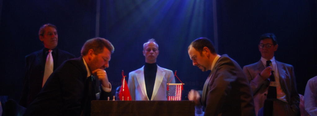 Photograph from Chess - lighting design by Pete Watts