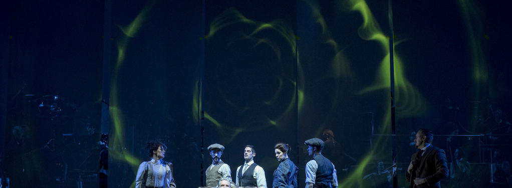 Photograph from The War of the Worlds - lighting design by Tim Oliver