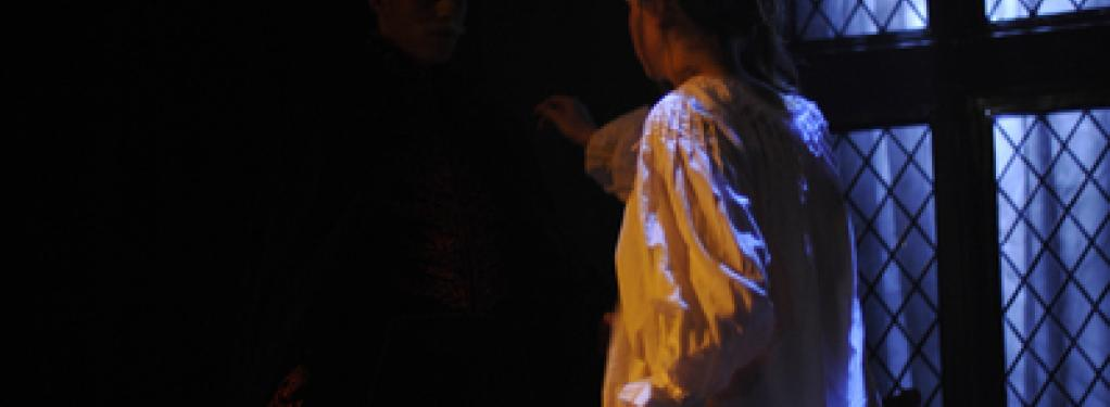 Photograph from Dracula - lighting design by Catherine Webb