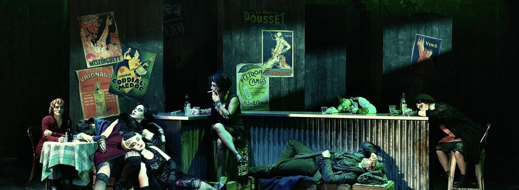 Photograph from La Boheme - lighting design by Charlie Morgan Jones