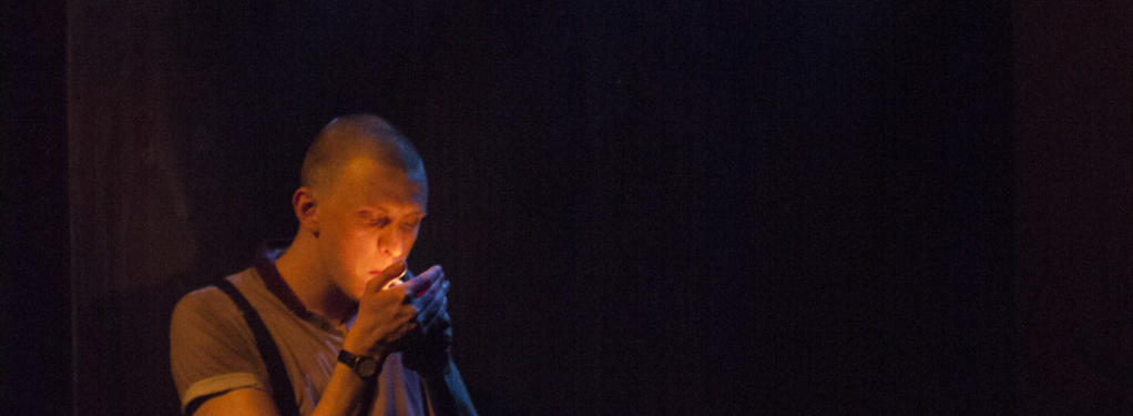 Photograph from Barbarians - lighting design by Matthew Leventhall