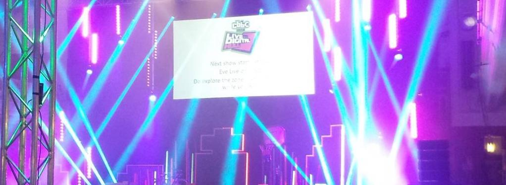 Photograph from CBBC Live and Digital - lighting design by grahamrobertslx
