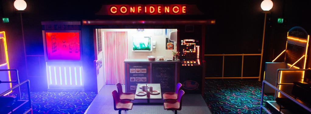 Photograph from Confidence - lighting design by Zoe Spurr