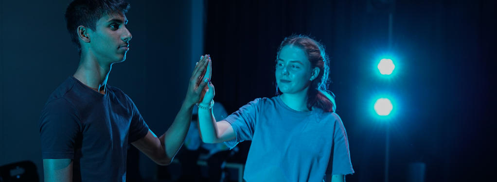 Photograph from The Curious Incident of the Dog in the Night-Time - lighting design by morgantevans