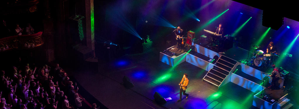 Photograph from Shane Filan Right Here - lighting design by Pete Watts