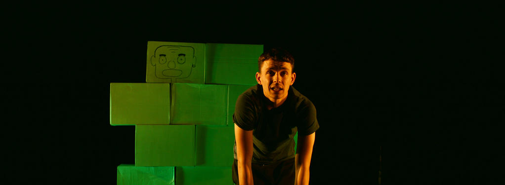Photograph from Blokes, Fellas, Geezers - lighting design by Louise Gregory
