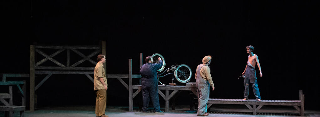 Photograph from The Diviners - lighting design by Wally Eastland